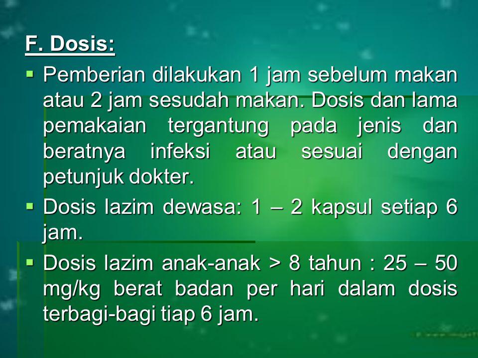 F. Dosis: