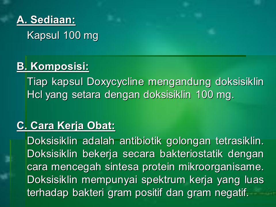 A. Sediaan: Kapsul 100 mg B.