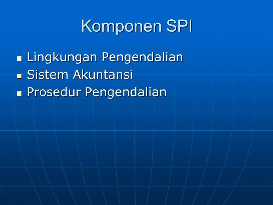 Komponen SPI Lingkungan Pengendalian Sistem Akuntansi