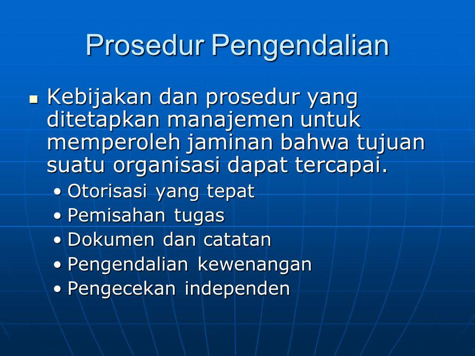Prosedur Pengendalian