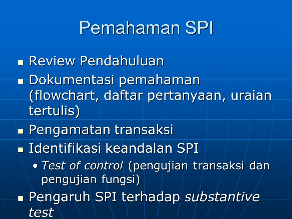 Pemahaman SPI Review Pendahuluan