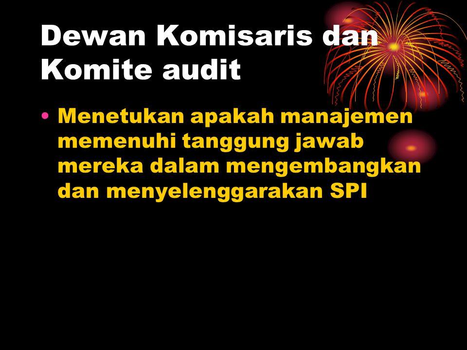 Dewan Komisaris dan Komite audit