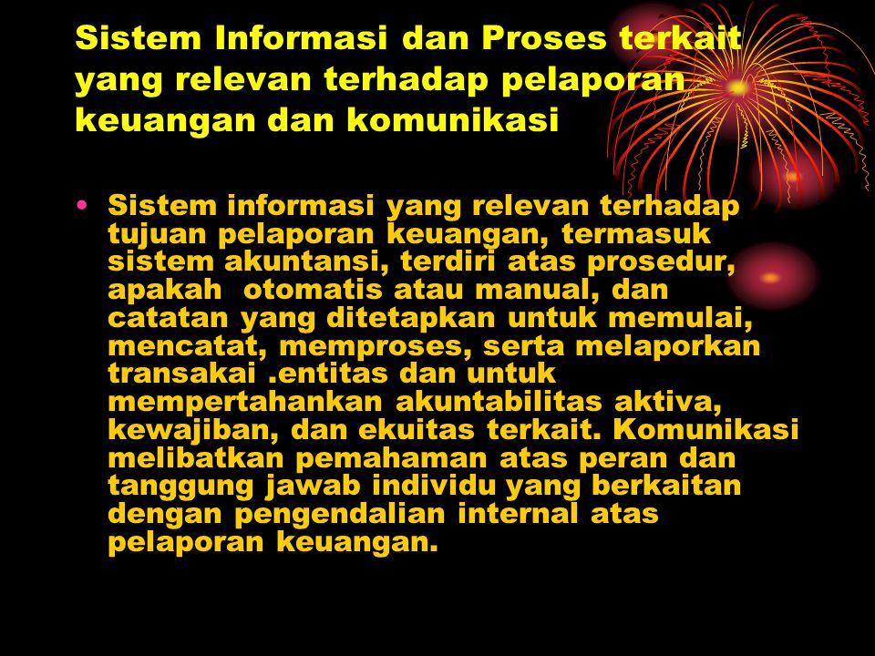 Sistem Informasi dan Proses terkait yang relevan terhadap pelaporan keuangan dan komunikasi