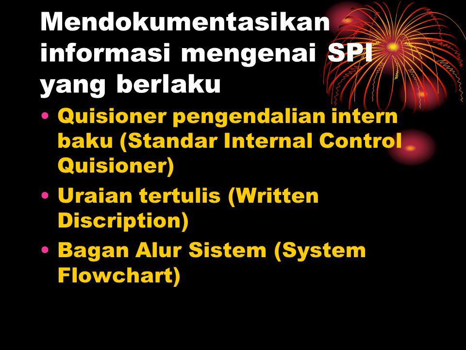 Mendokumentasikan informasi mengenai SPI yang berlaku