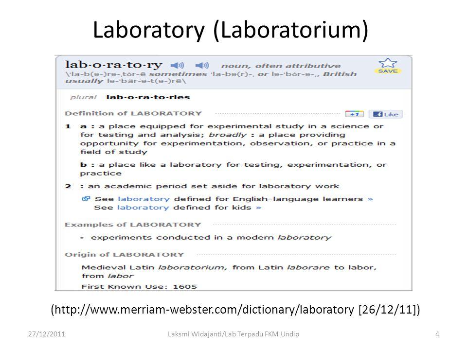 Laboratory (Laboratorium)