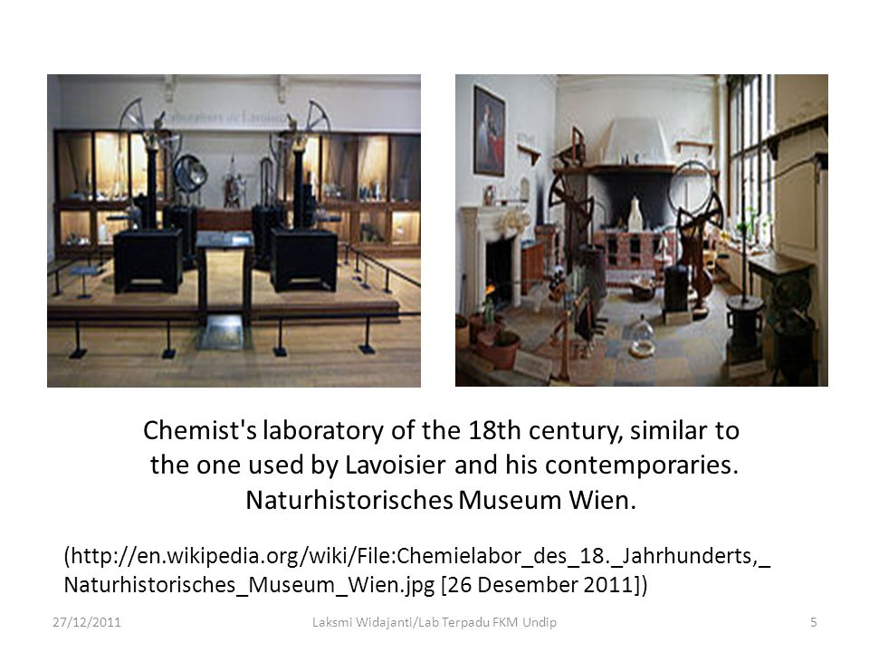 Chemist s laboratory of the 18th century, similar to