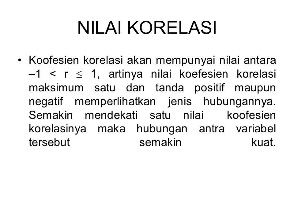 NILAI KORELASI