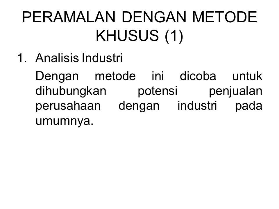 PERAMALAN DENGAN METODE KHUSUS (1)