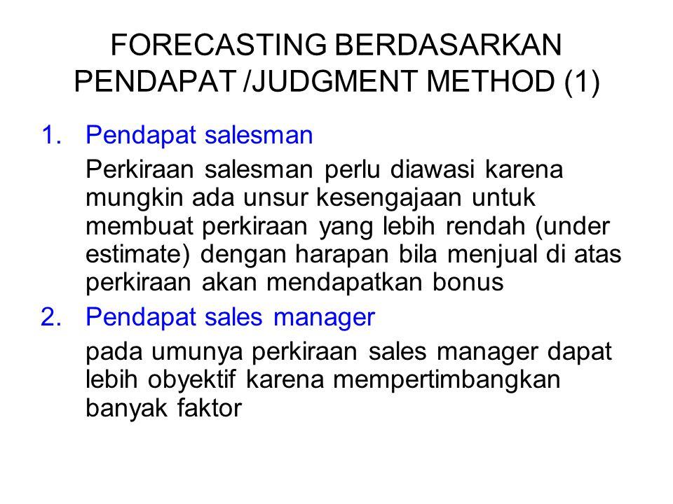 FORECASTING BERDASARKAN PENDAPAT /JUDGMENT METHOD (1)
