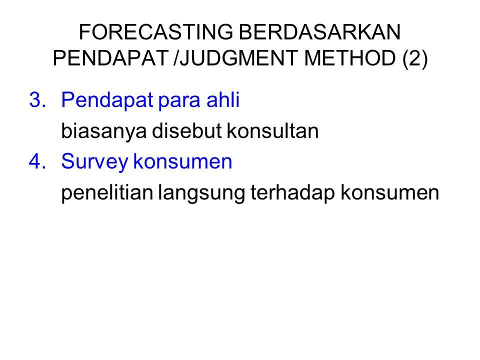 FORECASTING BERDASARKAN PENDAPAT /JUDGMENT METHOD (2)