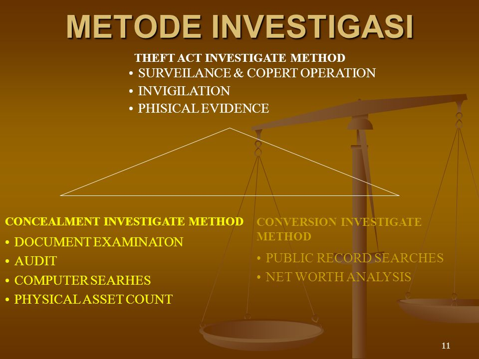 THEFT ACT INVESTIGATE METHOD