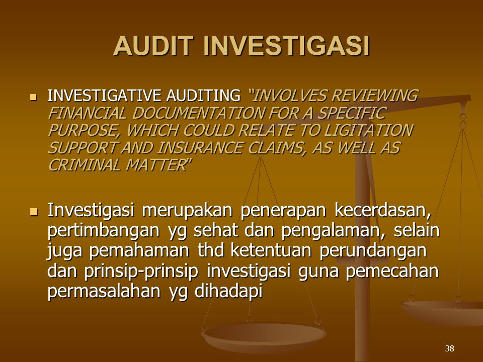 AUDIT INVESTIGASI