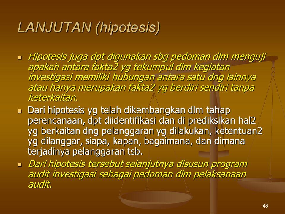 LANJUTAN (hipotesis)