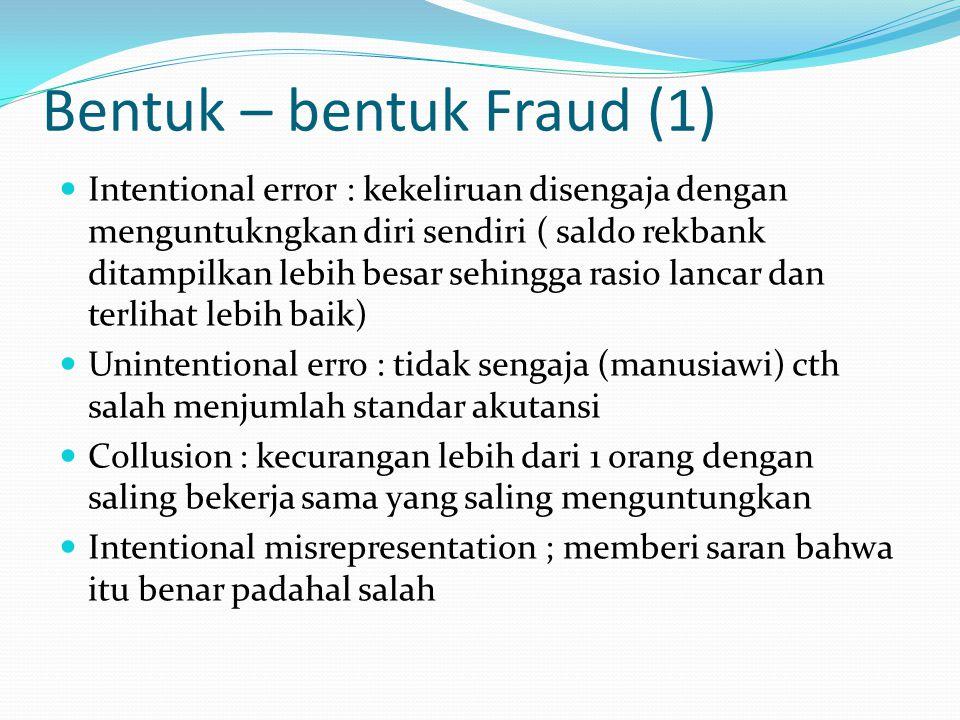 Bentuk – bentuk Fraud (1)