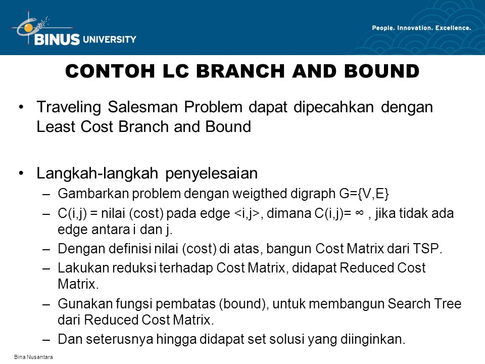 CONTOH LC BRANCH AND BOUND