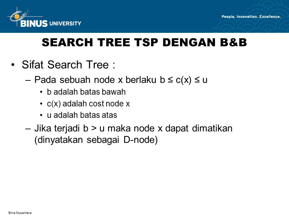 SEARCH TREE TSP DENGAN B&B