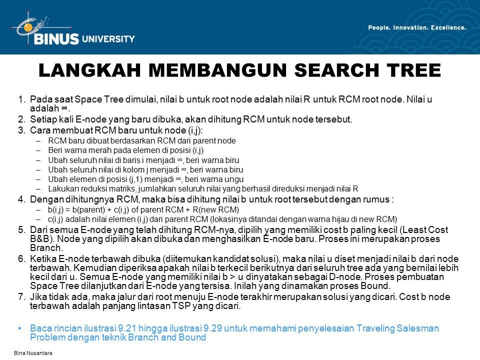 LANGKAH MEMBANGUN SEARCH TREE