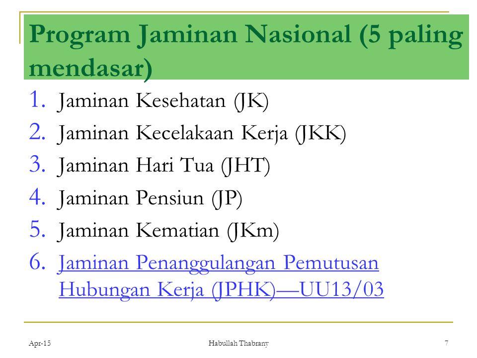 Program Jaminan Nasional (5 paling mendasar)