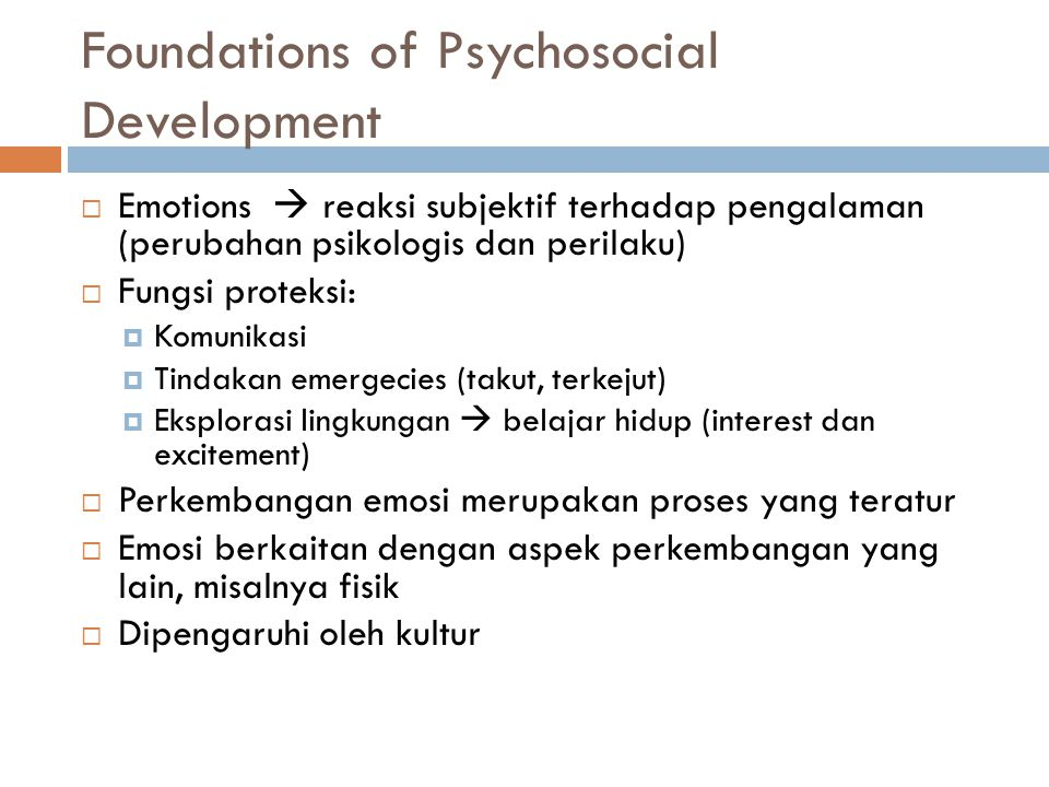 Foundations of Psychosocial Development