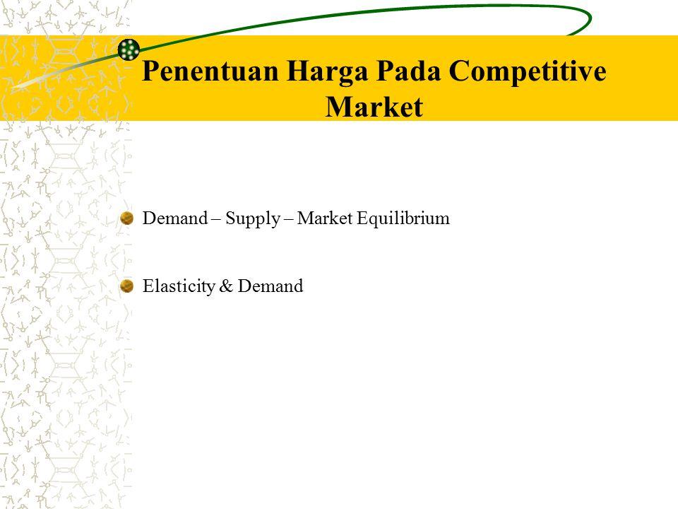 Penentuan Harga Pada Competitive Market