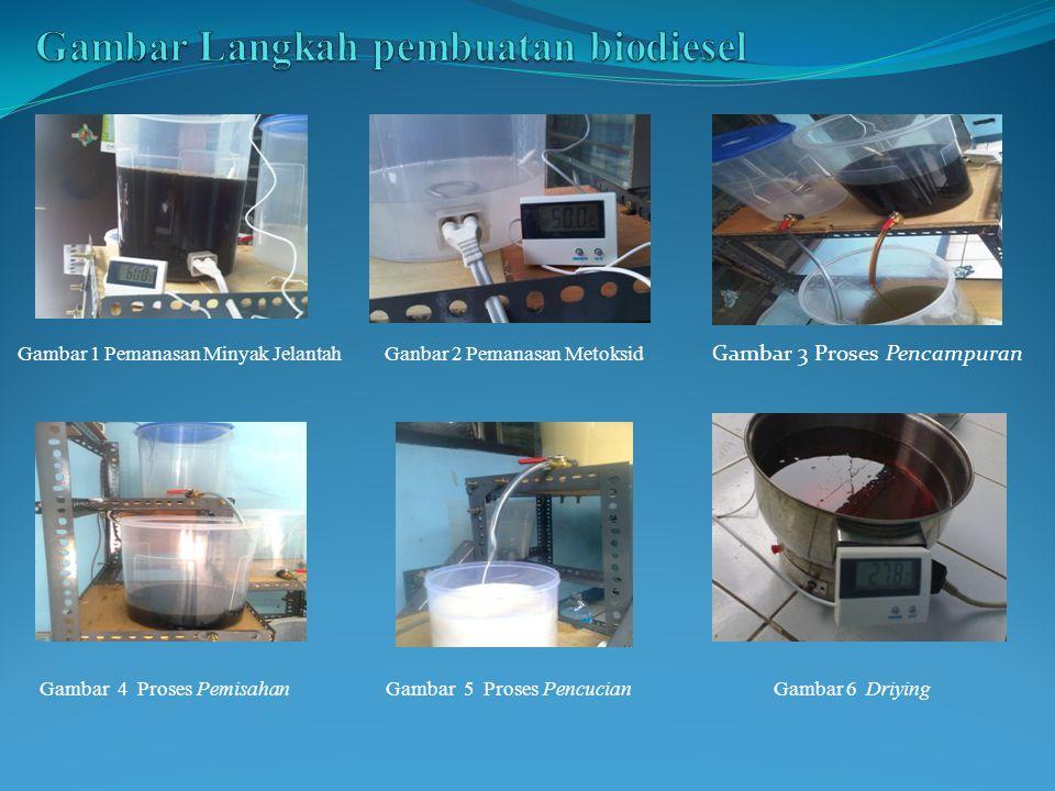 Gambar Langkah pembuatan biodiesel