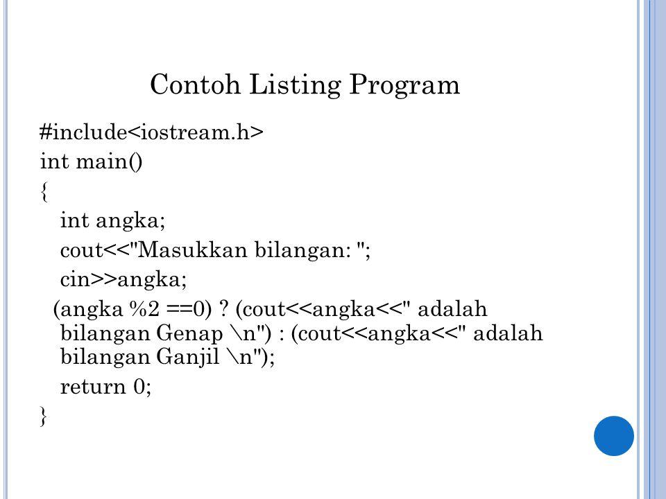 Contoh Listing Program