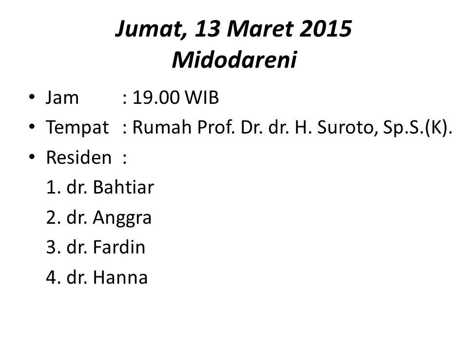 Jumat, 13 Maret 2015 Midodareni