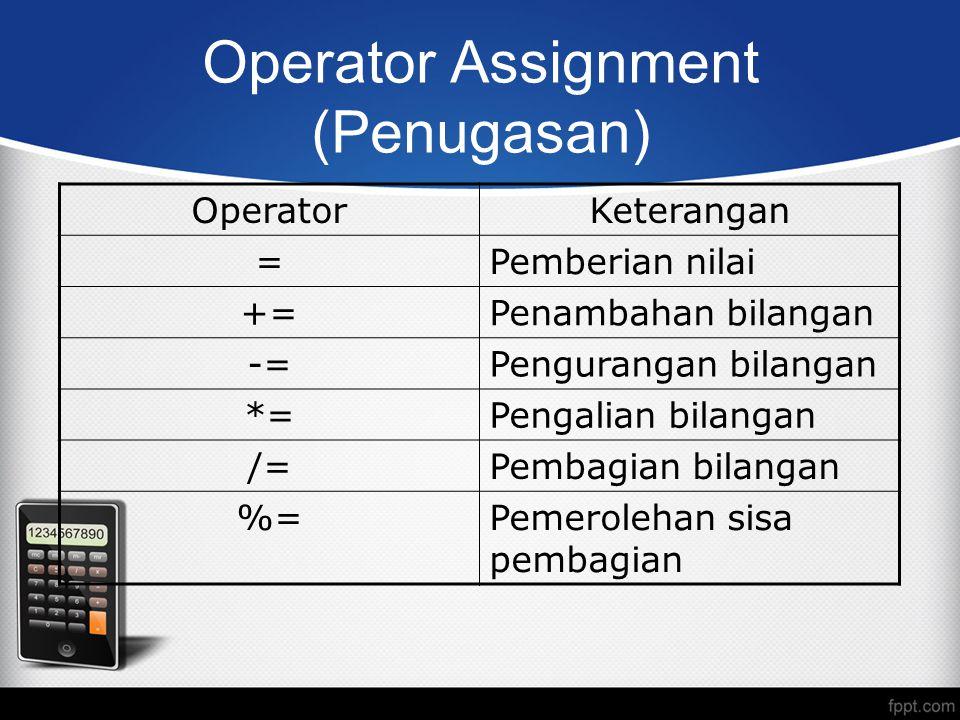 Operator Assignment (Penugasan)