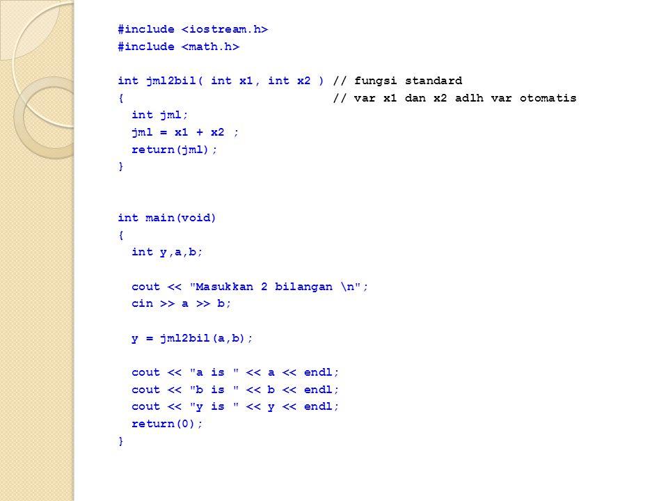 #include <iostream. h> #include <math
