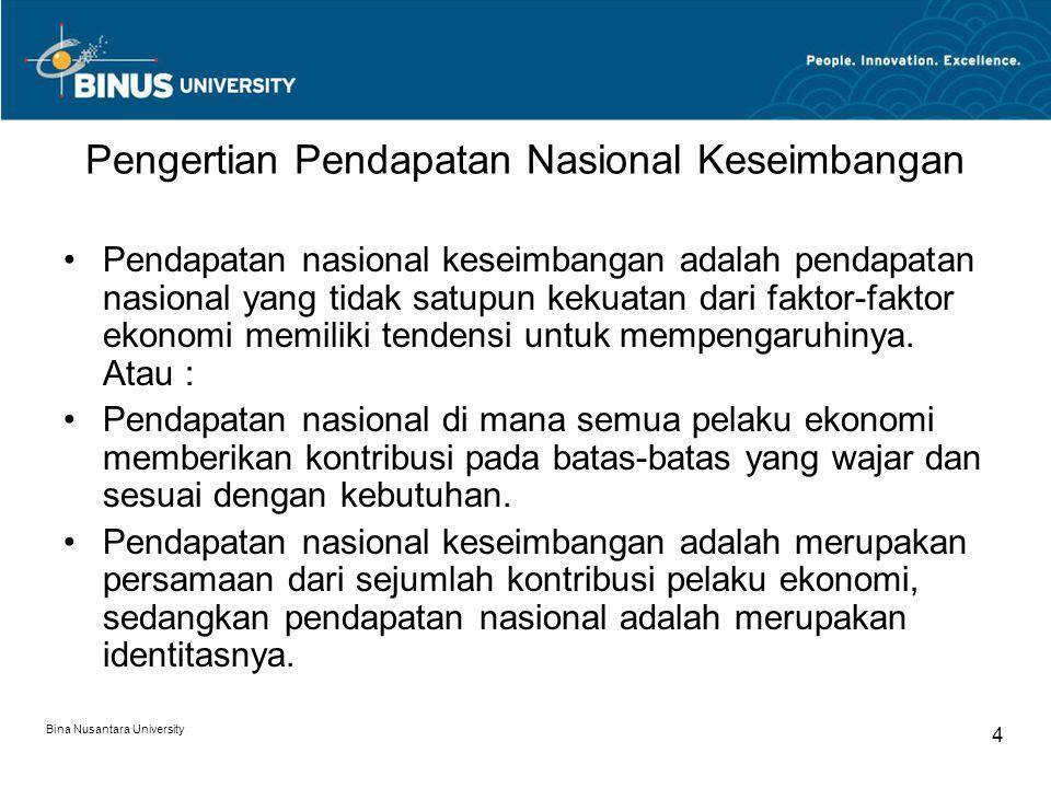 Pengertian Pendapatan Nasional Keseimbangan