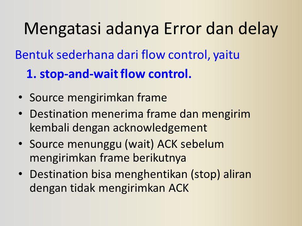 Mengatasi adanya Error dan delay