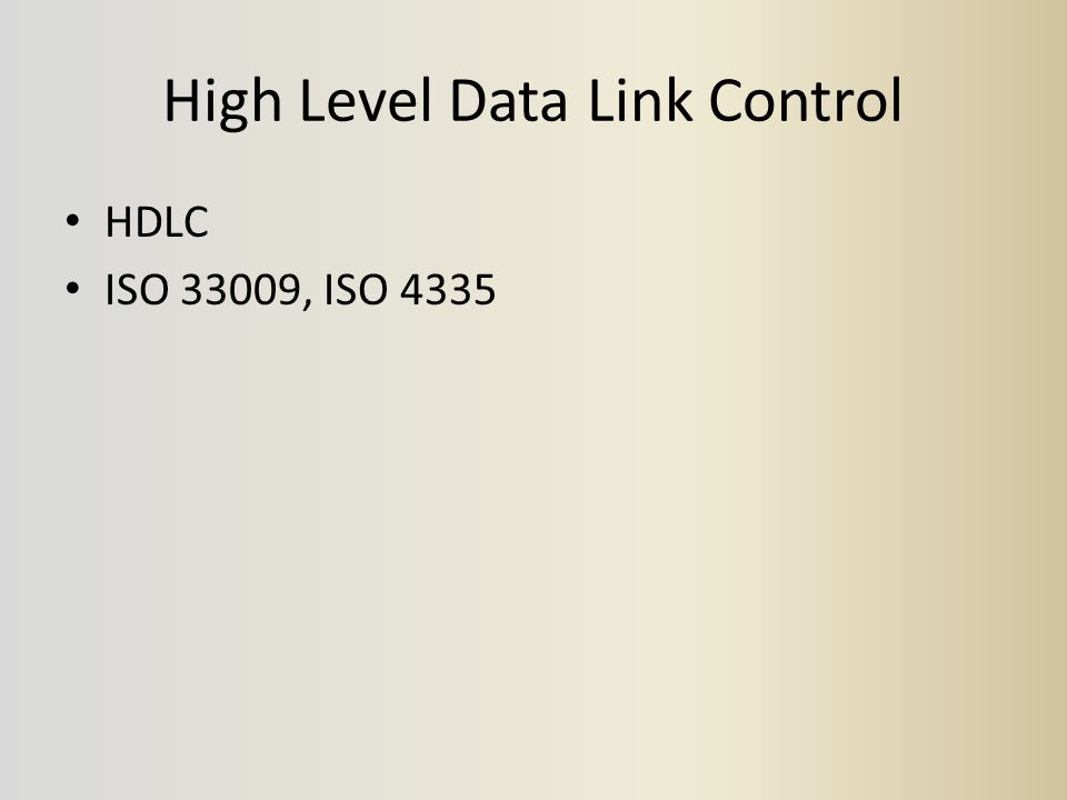 High Level Data Link Control