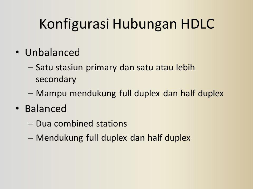 Konfigurasi Hubungan HDLC
