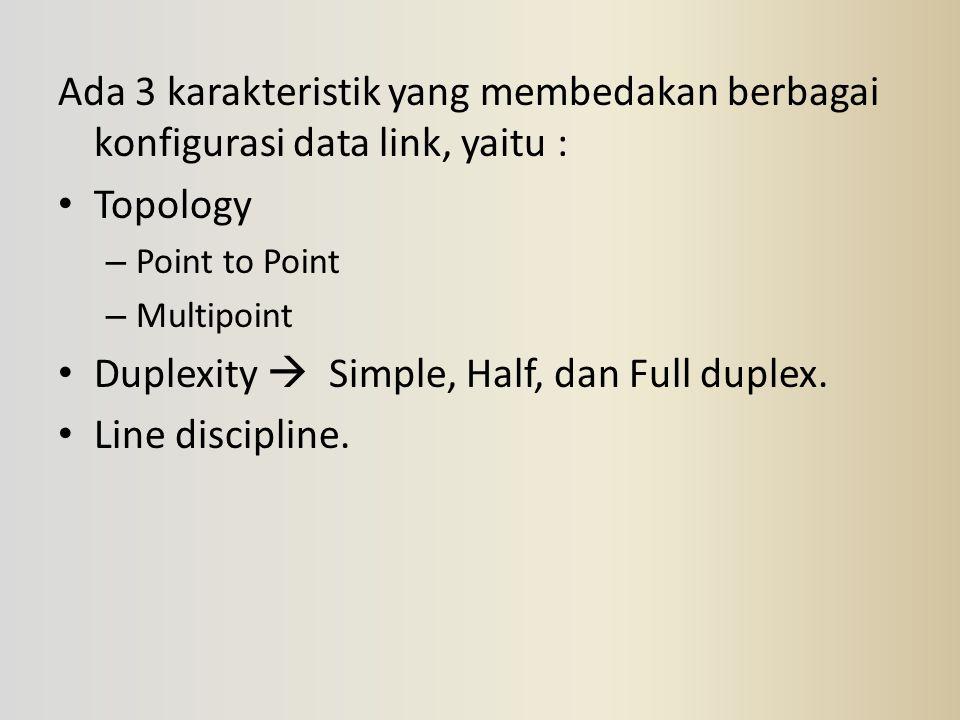 Duplexity  Simple, Half, dan Full duplex. Line discipline.