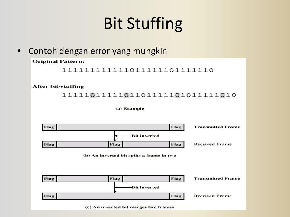 Bit Stuffing Contoh dengan error yang mungkin
