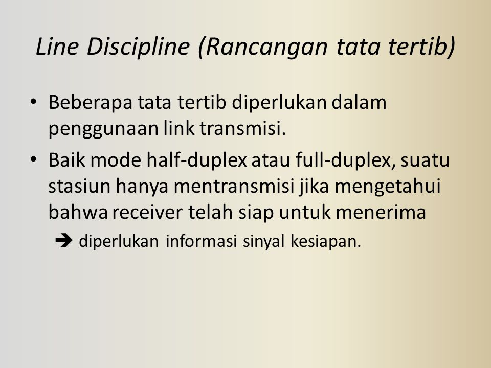 Line Discipline (Rancangan tata tertib)