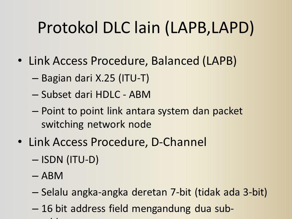 Protokol DLC lain (LAPB,LAPD)
