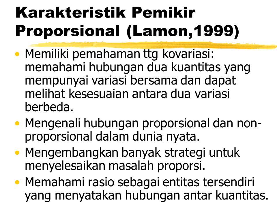 Karakteristik Pemikir Proporsional (Lamon,1999)