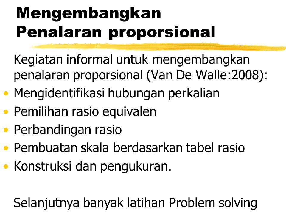 Mengembangkan Penalaran proporsional