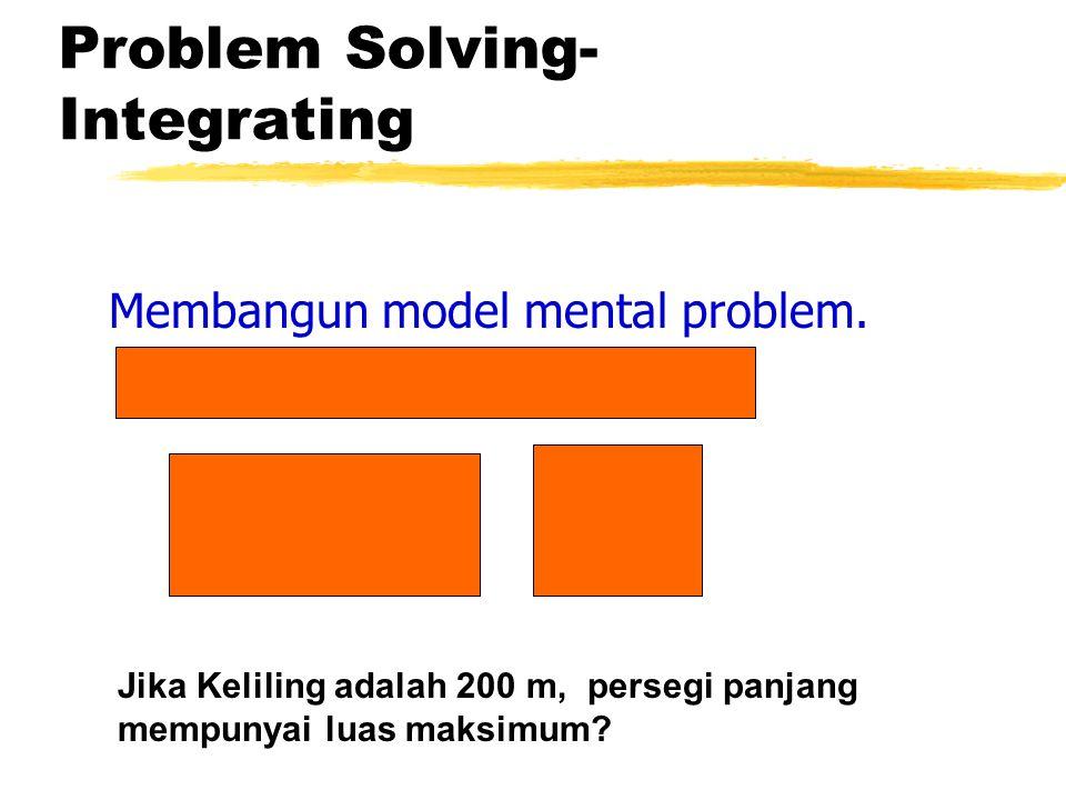 Problem Solving-Integrating
