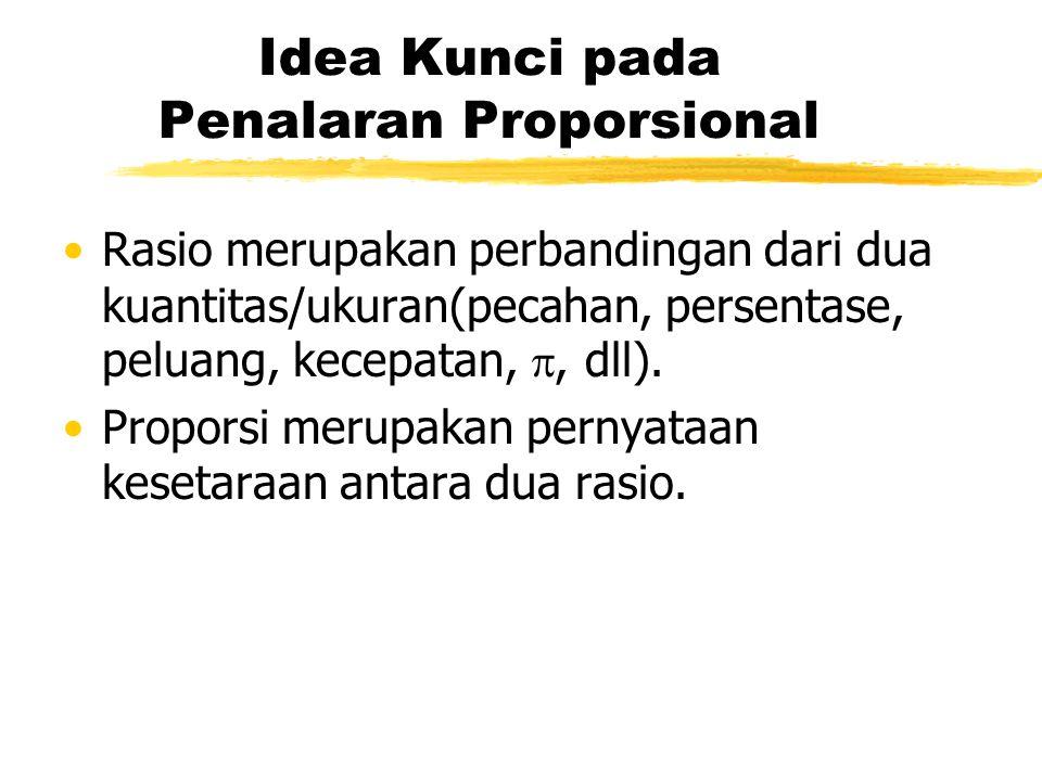 Idea Kunci pada Penalaran Proporsional
