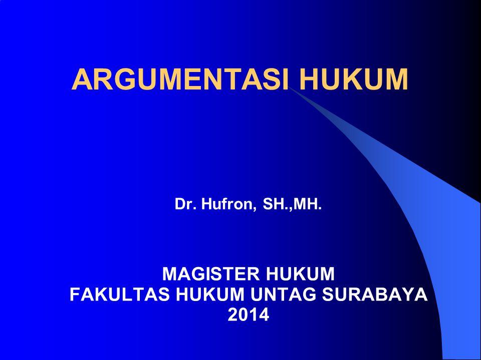 Dr. Hufron, SH.,MH. MAGISTER HUKUM FAKULTAS HUKUM UNTAG SURABAYA 2014
