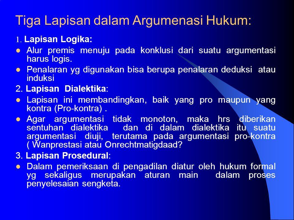 Tiga Lapisan dalam Argumenasi Hukum: