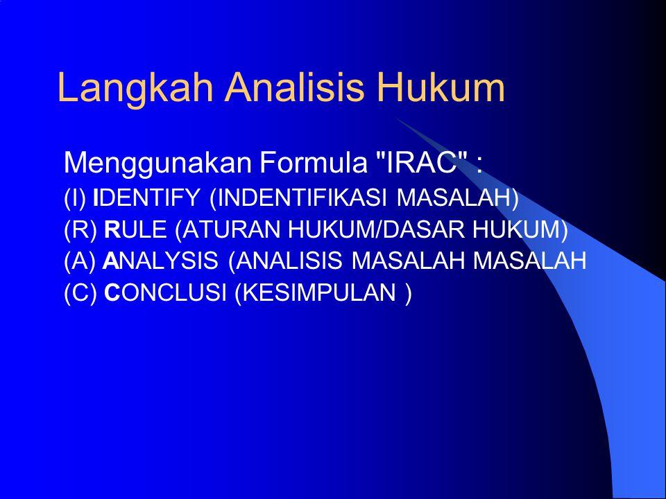 Langkah Analisis Hukum