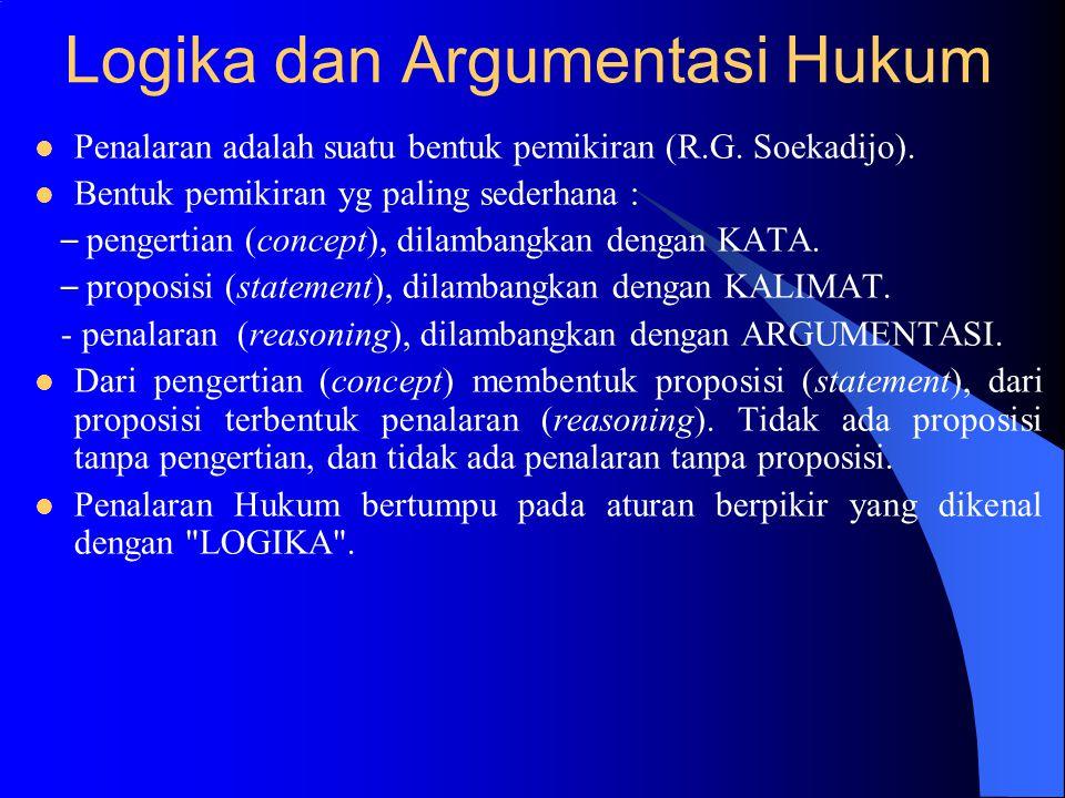 Logika dan Argumentasi Hukum