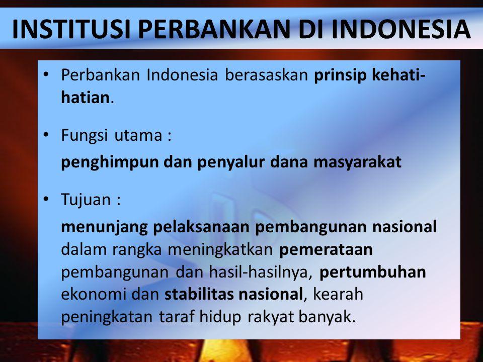 INSTITUSI PERBANKAN DI INDONESIA