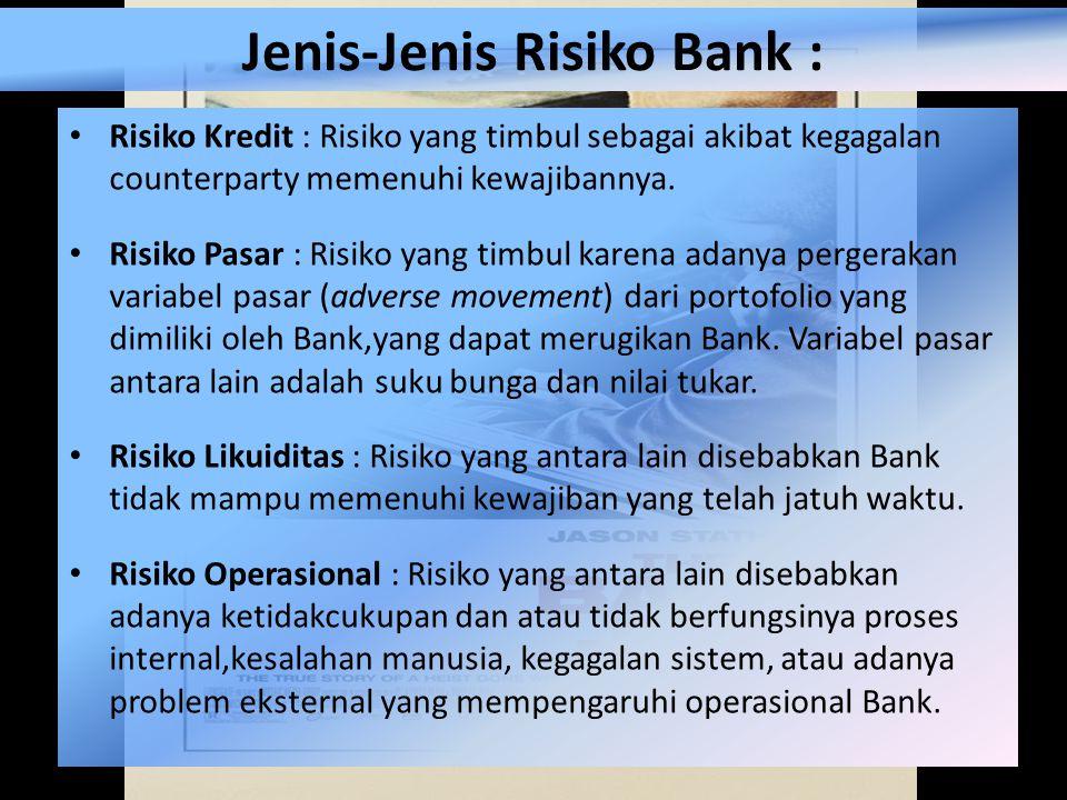 Jenis-Jenis Risiko Bank :
