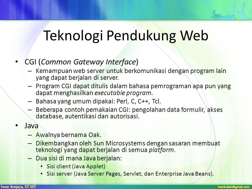 Teknologi Pendukung Web