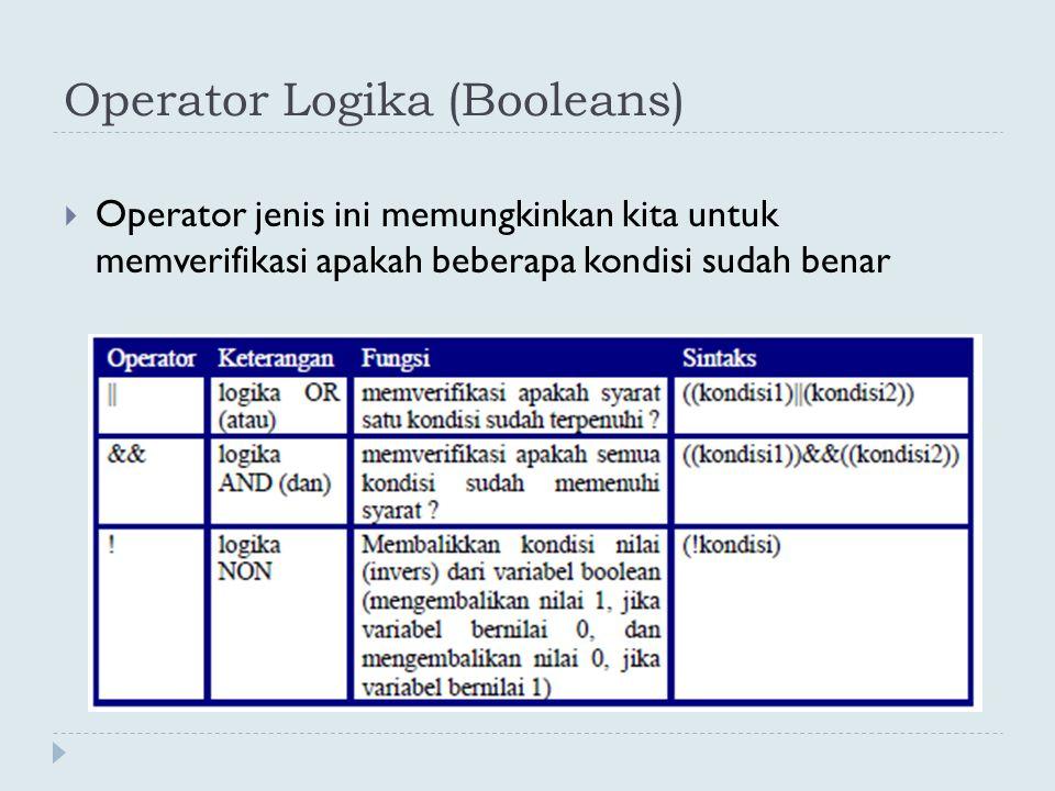 Operator Logika (Booleans)