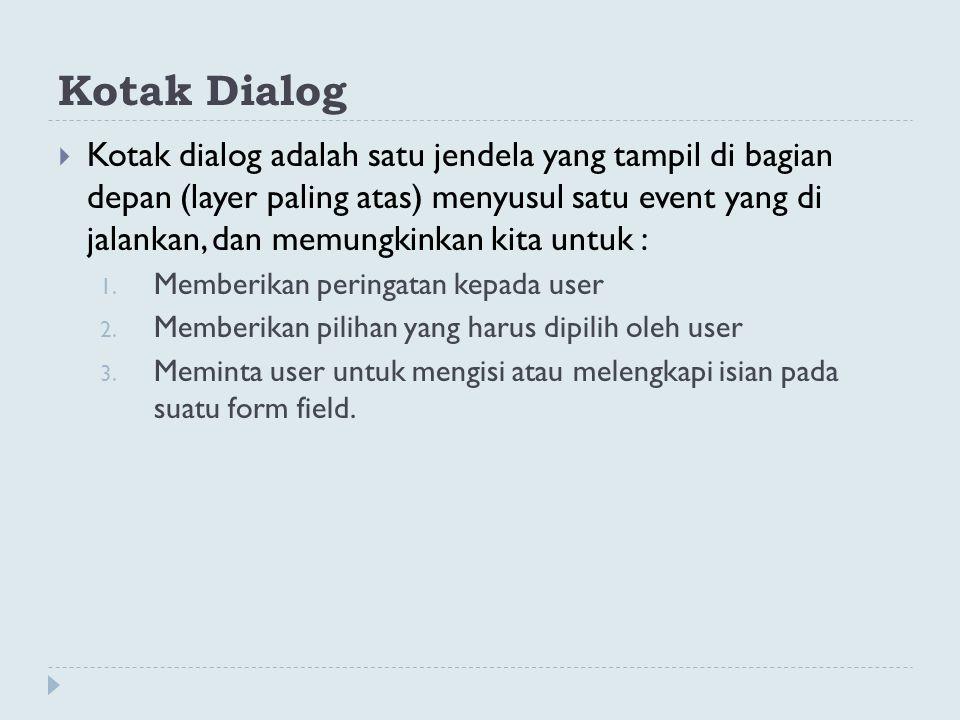 Kotak Dialog
